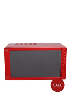 swan-sm22050r-800-watt-23-litre-mirror-door-microwave-red