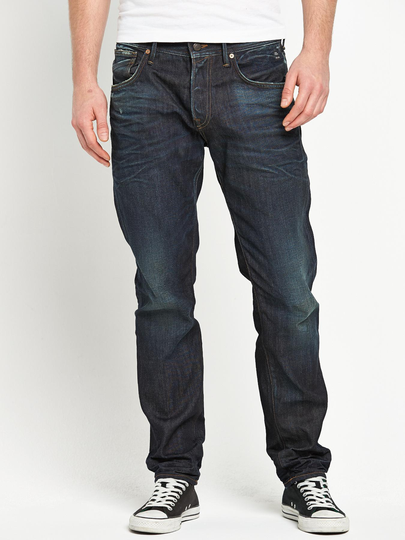 Jack & Jones Mens Mike Drew Tapered Jeans