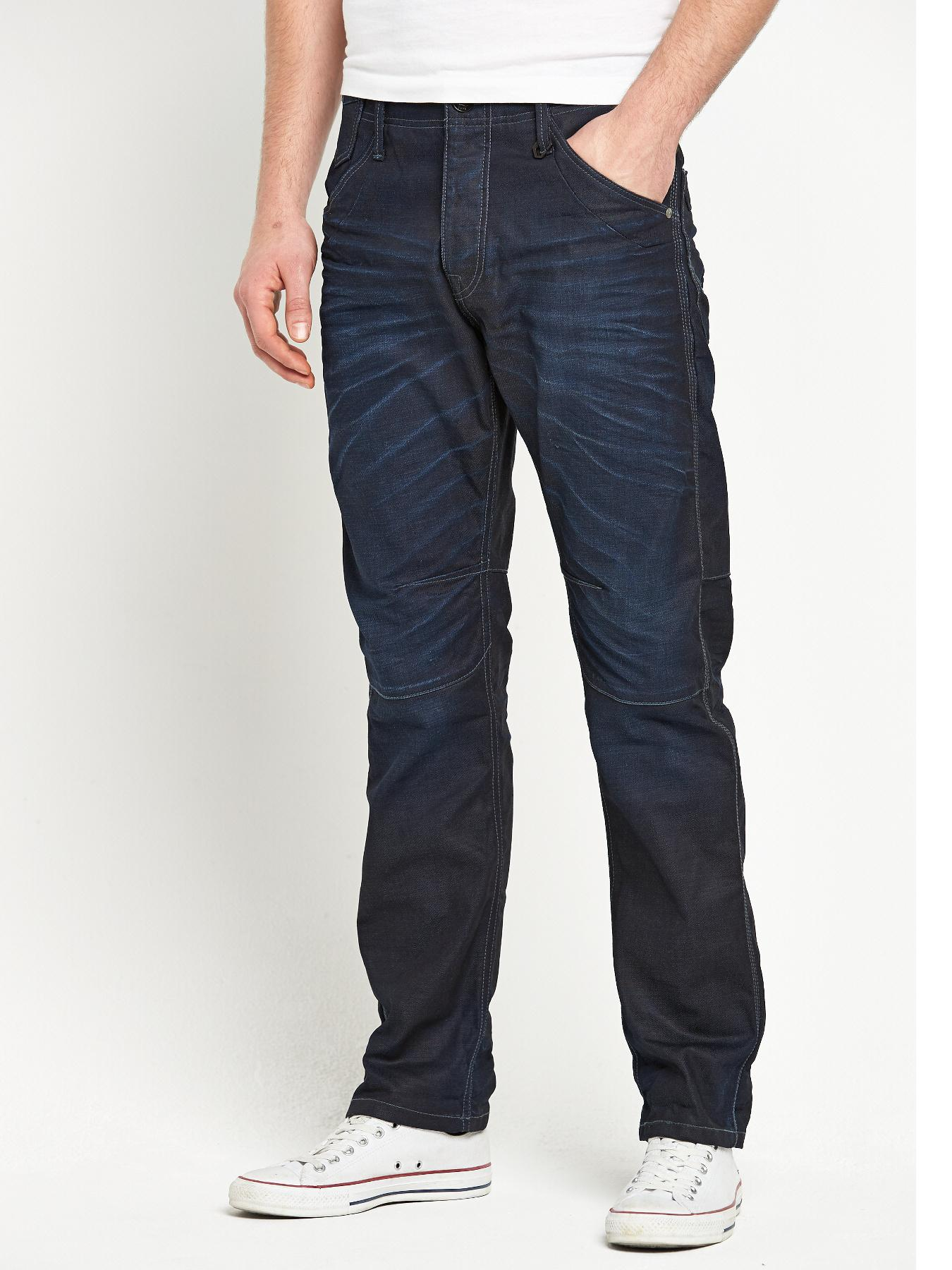 Jack & Jones Mens Stan Adam Straight Leg Jeans