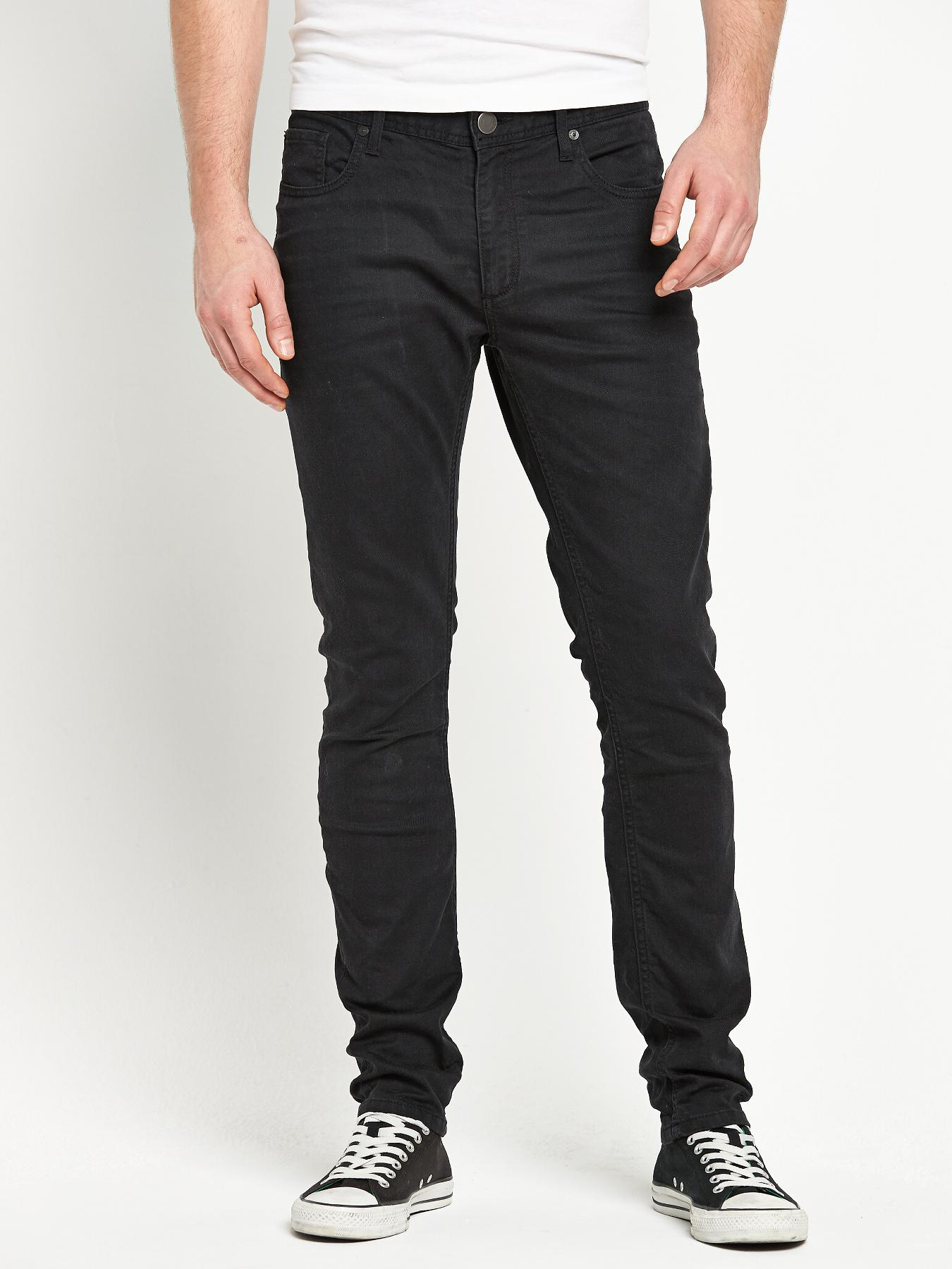 Jack & Jones Mens Tim Slim Fit Jeans - Black, Black