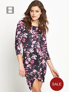club-l-asymmetric-floral-scuba-dress
