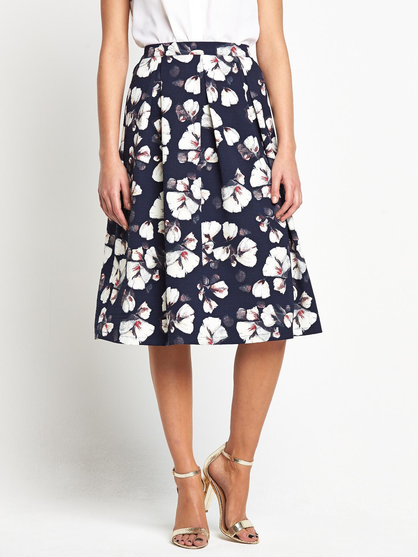 Fashion Union Floral Midi Skirt
