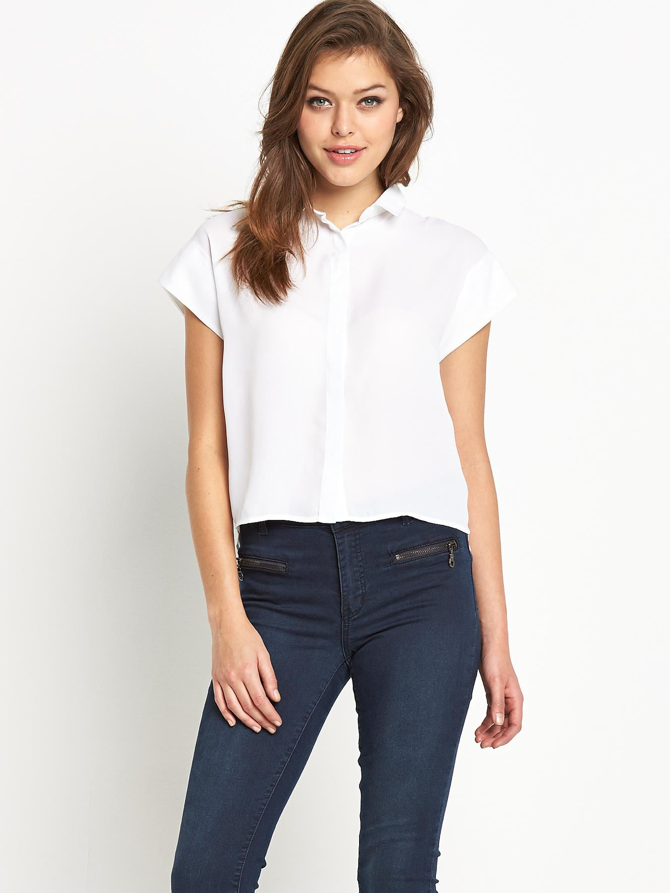 Fashion Union Boxy Shirt - White, White