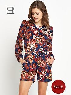 club-l-long-sleeve-floral-playsuit