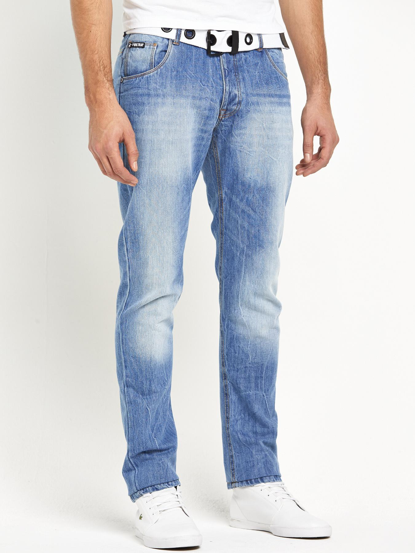 Firetrap Mens Redfern Straight Fit Jeans