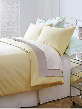 Non-Iron Percale 180 Thread Count Duvet Cover Set