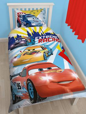 disney cars champ reversible single duvet cover