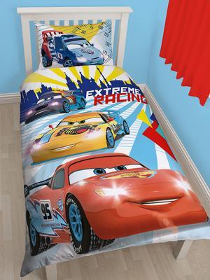 disney cars champ reversible single duvet cover