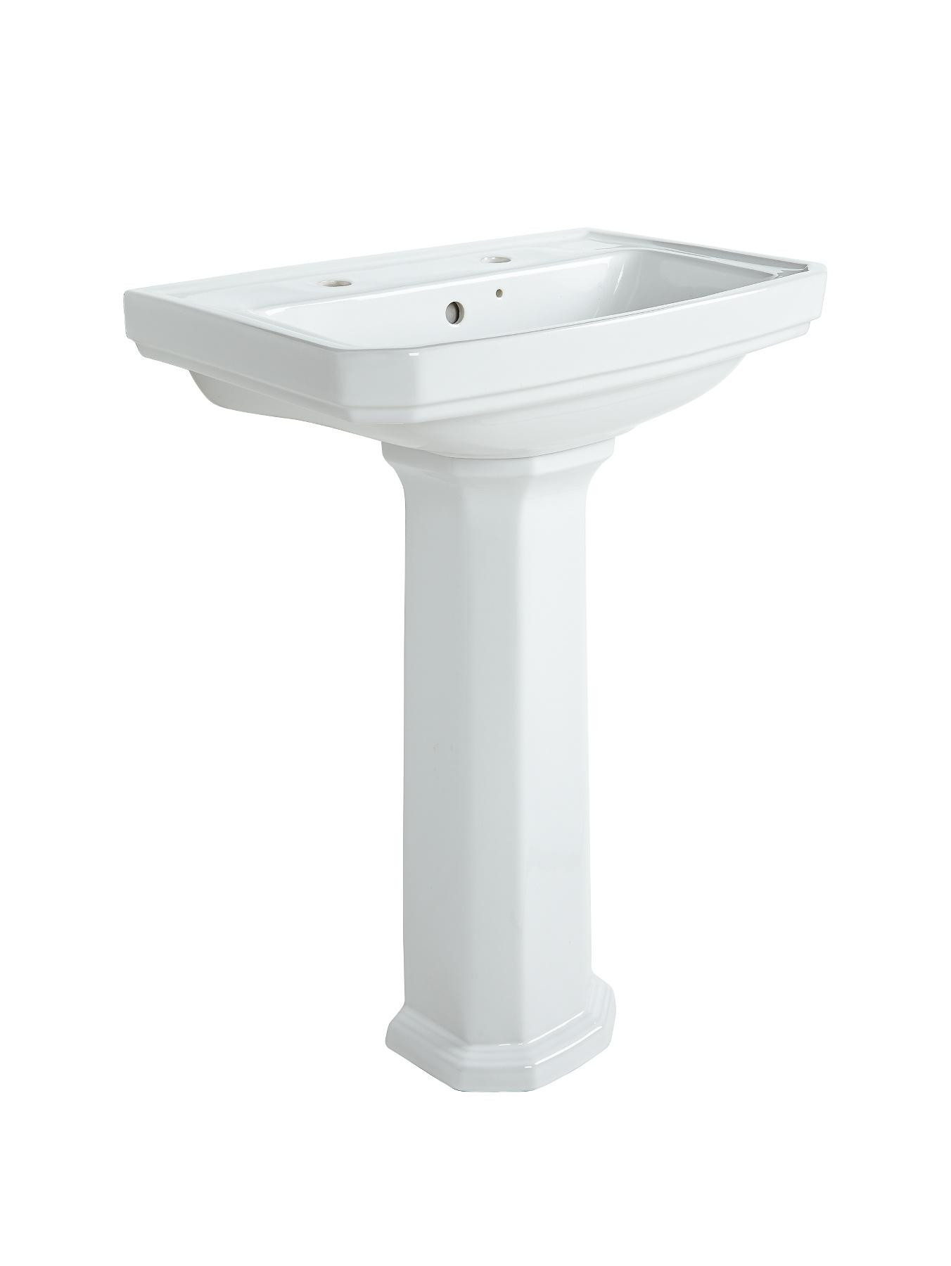 Elegance 2 Tap Basin and Full Pedestal