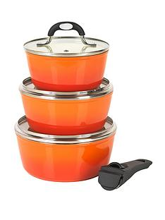 salter-4-piece-saucepan-set-with-detachable-handle-orange