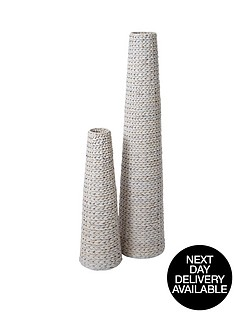 pair-of-arrow-weave-vases