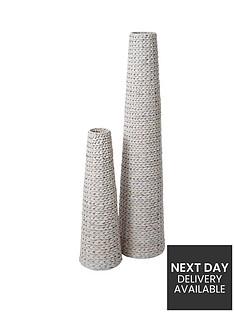 pair-of-arrow-weave-vases