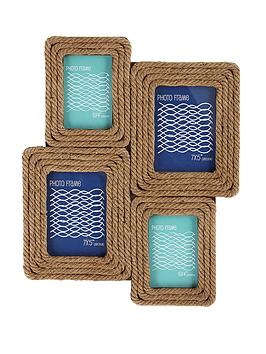 Rope collage photo frame Rope photo frame