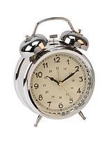 Double Bell Alarm Clock - Chrome