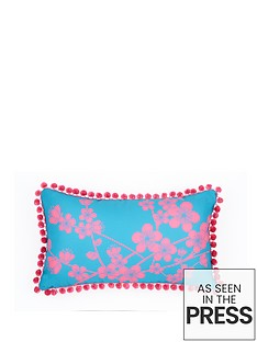fearne-cotton-havana-printed-pom-pom-cushion
