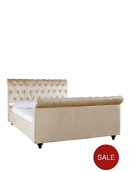 woburn-fabric-scroll-bed-frame-with-optional-mattress