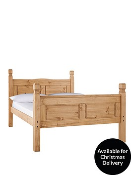 corona-high-foot-end-solid-pine-bed-frame-with-optional-mattress