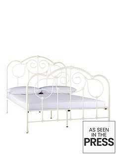 fearne-cotton-aruba-metal-bed-frame-with-optional-mattress