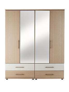consort-putney-4-door-4-drawer-mirrored-wardrobe