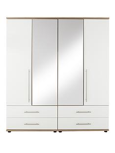 consort-kenton-4-door-4-drawer-mirrored-wardrobe