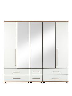 consort-kenton-5-door-6-drawer-mirrored-wardrobe