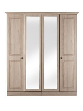 consort-willow-4-door-wardrobe-with-mirror-light-oak