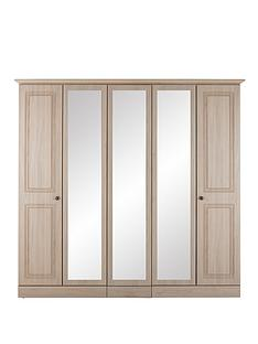 consort-willow-5-door-wardrobe-with-mirror-light-oak