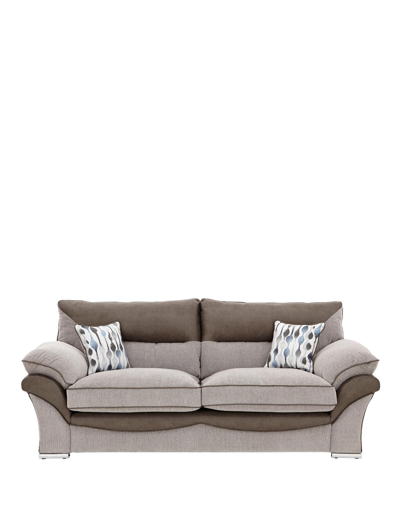Hampton 3-Seater Sofa - Silver, Silver,Grey at Very, from Littlewoods