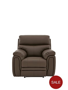 la-z-boy-tampa-leather-manual-recliner-armchair
