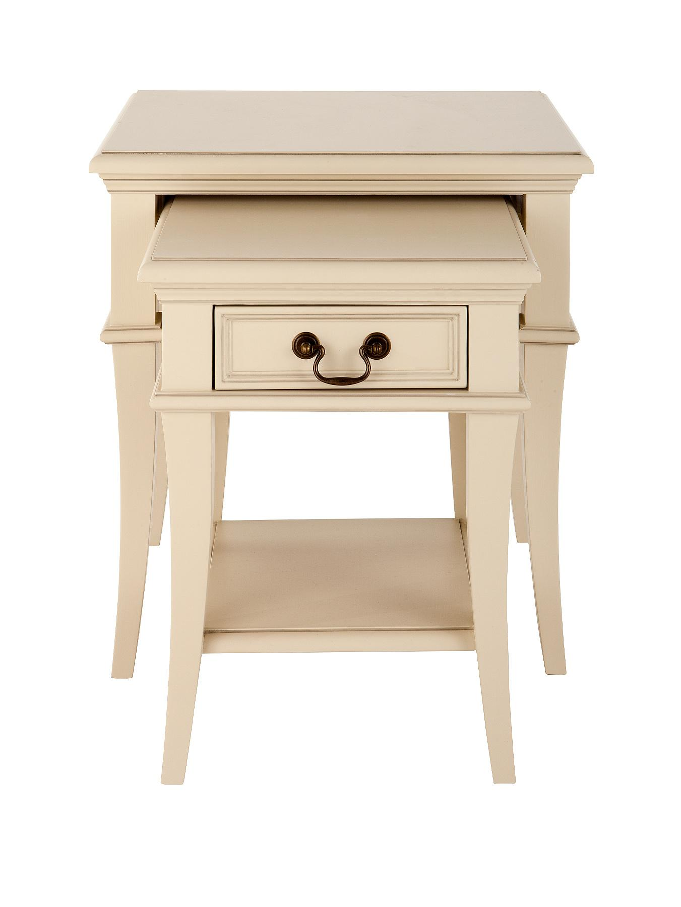 Regency Nest of Tables - Ivory, Ivory