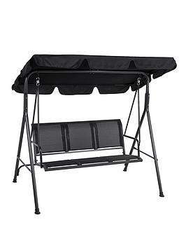 honolulu-3-seater-hammock-black
