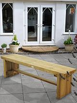 Garden Double Sleeper Bench - 1.5m Long