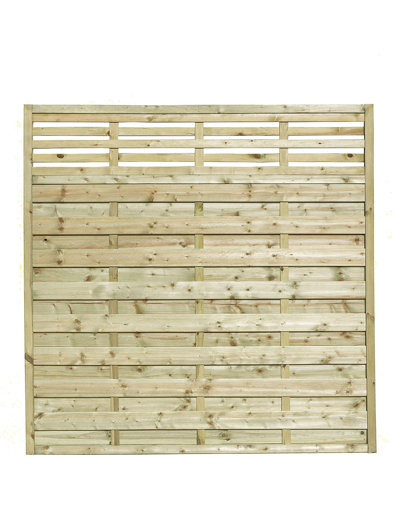 FOREST Garden Kyoto Fence Panels 1.8 x 1.8m High (3 Pack)