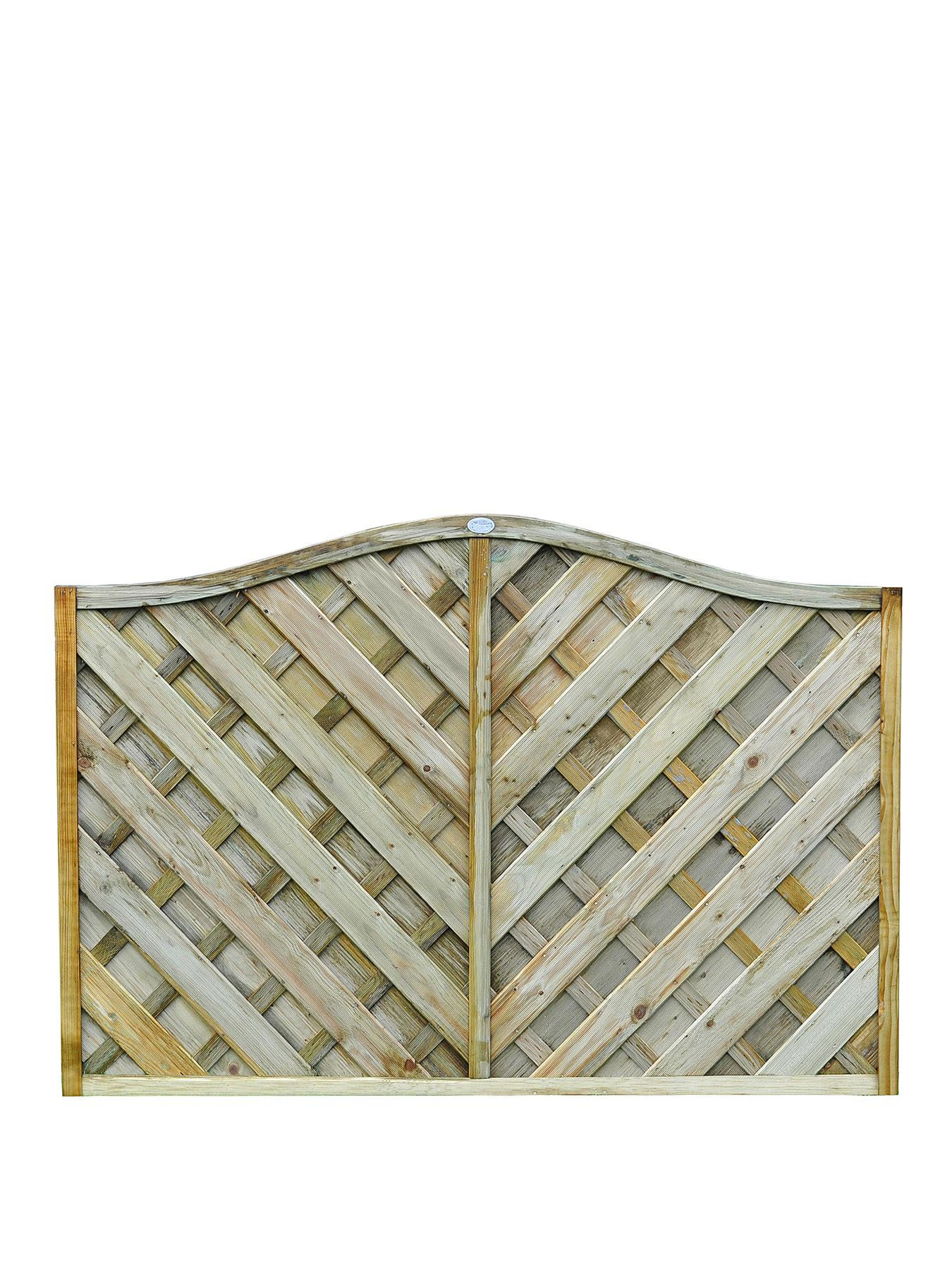 FOREST Garden Strasburg Fence Panles 1.8 x 1.2m High (5 Pack)