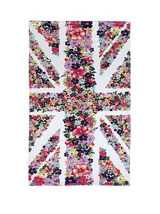 accessorize-floral-union-jack-beach-towel