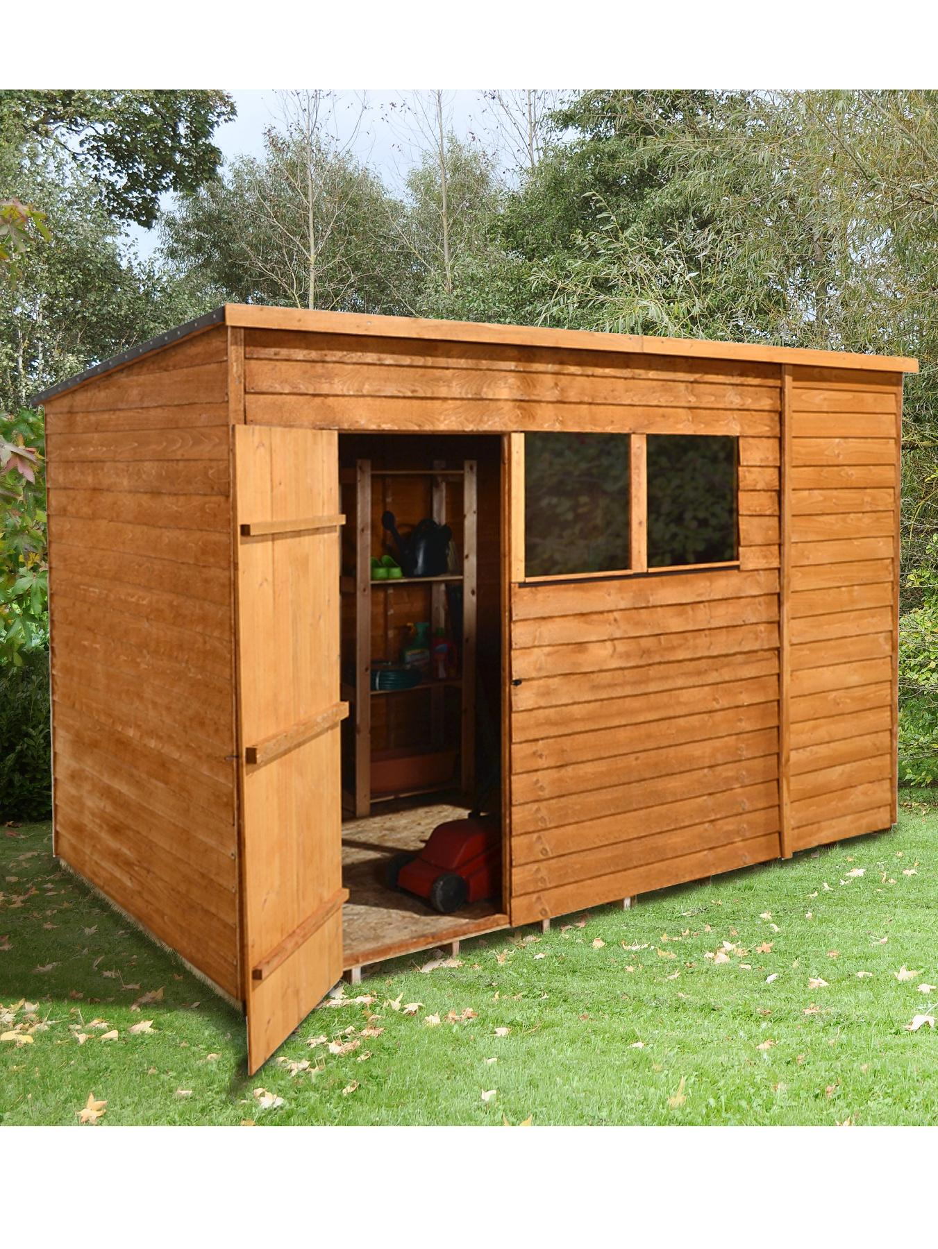 FOREST 10 x 6ft Overlap Pent Shed with Optional Assembly