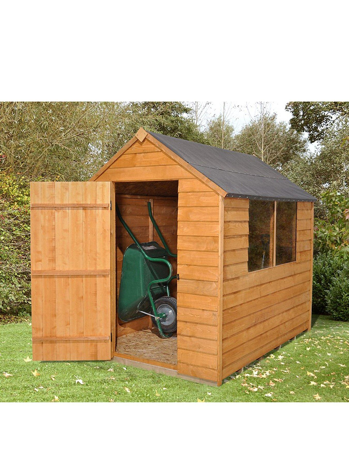 FOREST 5 x 7ft Essential Overlap Shed with Optional Assembly and Base