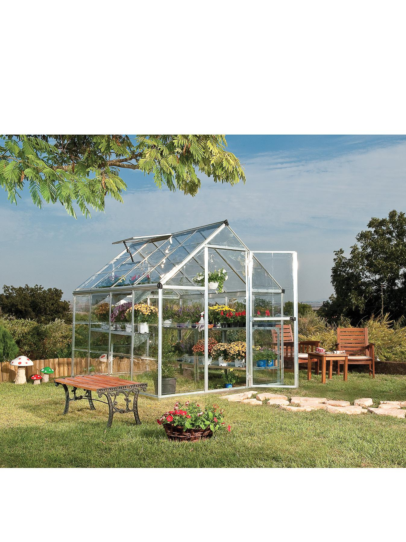 Palram Harmony 6 x 8ft Greenhouse - Silver