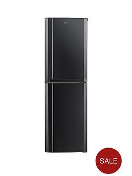 swan sr8060b 55cm fridge freezer black. Black Bedroom Furniture Sets. Home Design Ideas