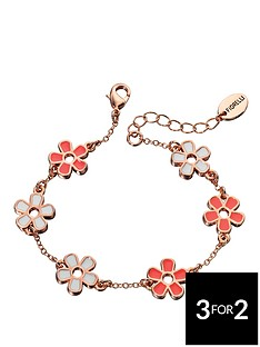 fiorelli-rose-gold-plated-white-and-coral-flower-bracelet