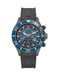 swiss-military-blue-bezel-chronograph-rubber-strap-mens-watch