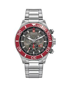 swiss-military-red-bezel-chronograph-stainless-steel-mens-watch