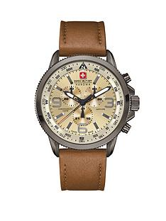 swiss-military-chronograph-leather-strap-mens-watch