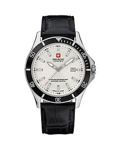 swiss-military-white-dial-leather-strap-mens-watch