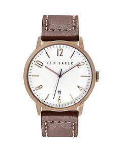 ted-baker-rose-gold-brown-leather-strap-mens-watch