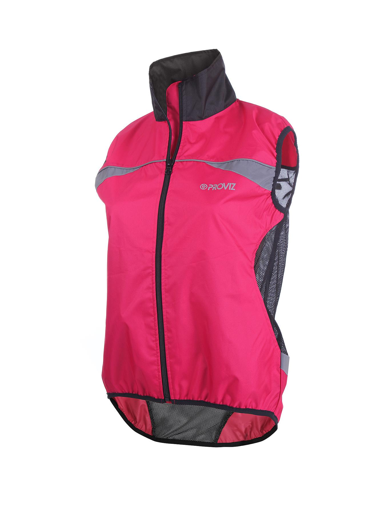 PROVIZ Ladies High Vis Cycling Gilet - Pink - Pink, Pink