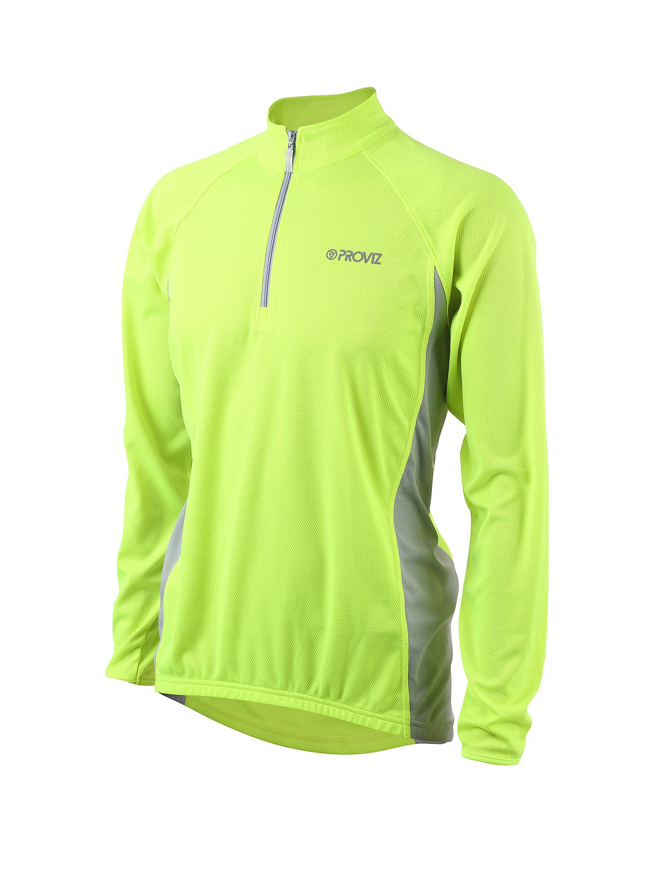PROVIZ Long Sleeved Mens High Vis Cycling Jersey - Yellow, Yellow
