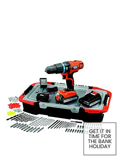 black-decker-egbl188bast-gb-18-volt-lithium-ion-combi-hammer-drill-with-2-batteries-165-accessories-and-kitbox-free-prize-draw-entry