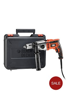 black-decker-kr7532bk-gb-750-watt-2-gear-hammer-drill-free-prize-draw-entry