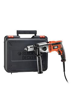 black-decker-kr7532bk-gb-750-watt-2-gear-hammer-drill